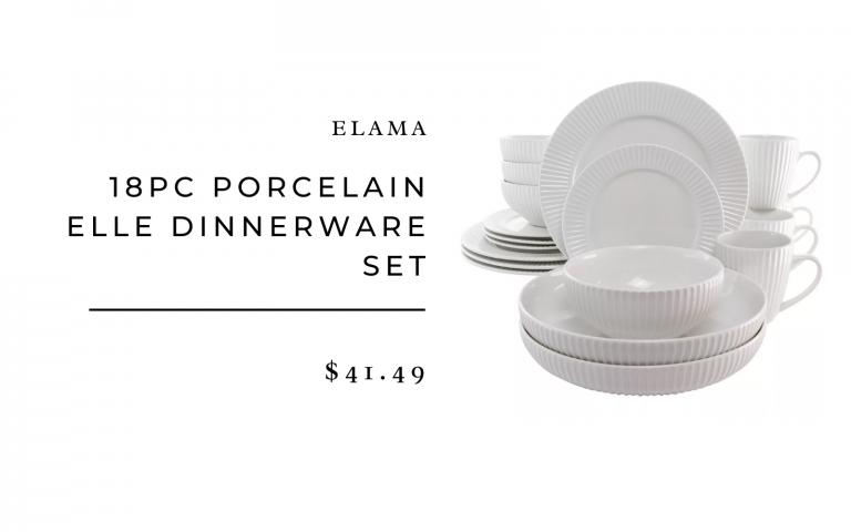 elama porcelain dinnerware set