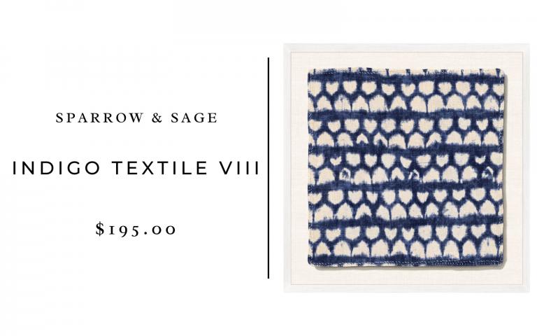 sparrow and sage indigo textile