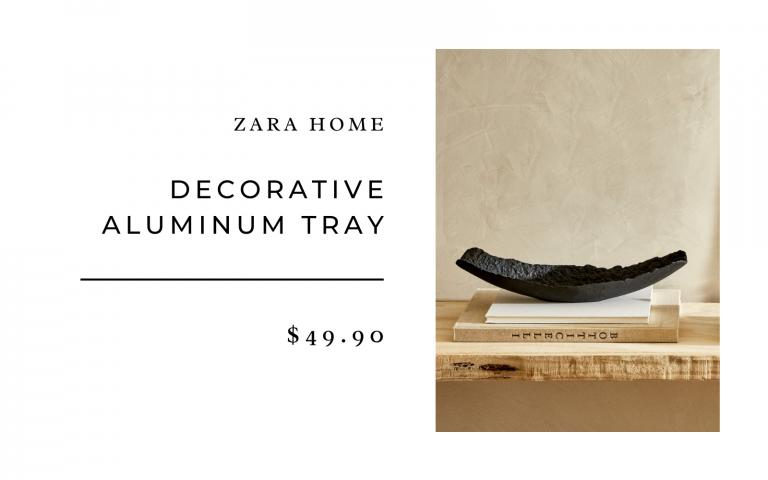 decorative black tray