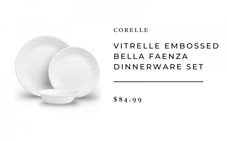 target corelle vitrelle embossed dinnerware set