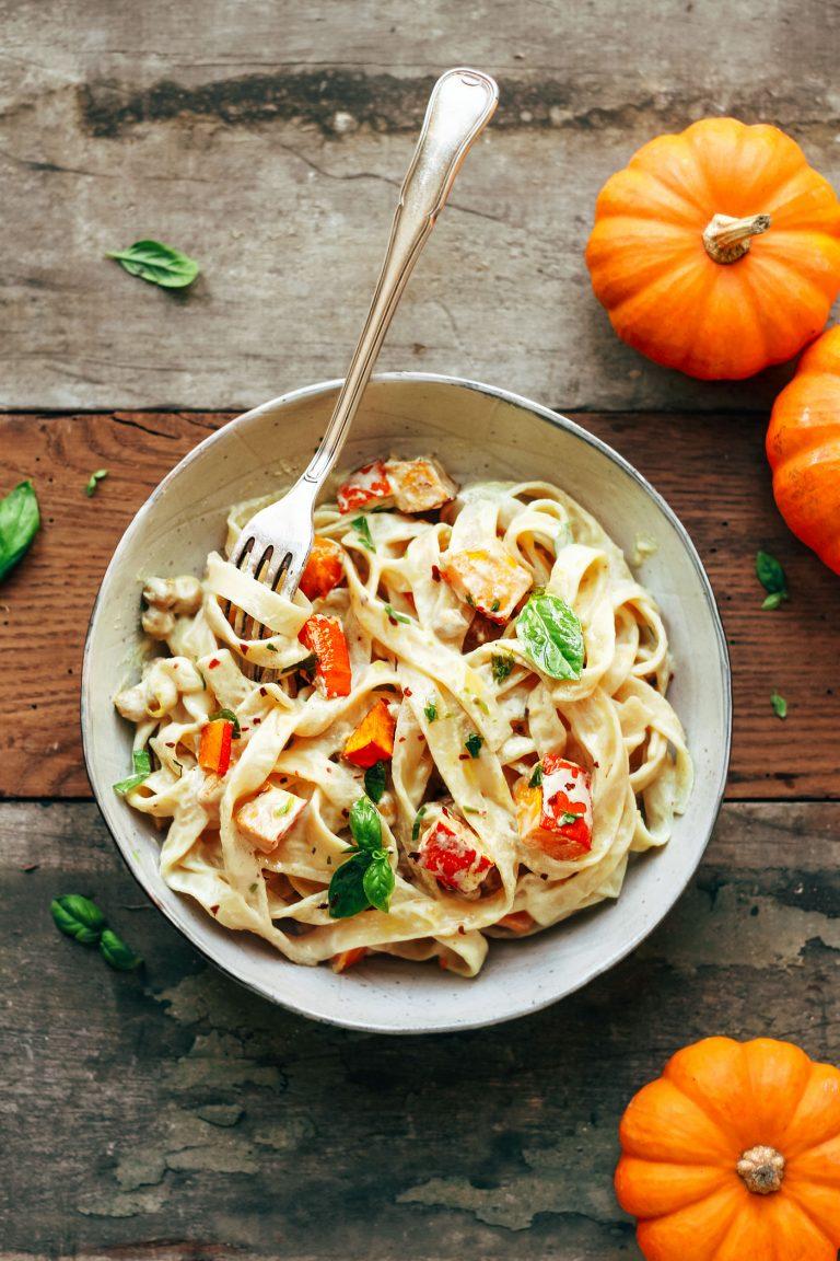 pumpkin and chickpea pasta