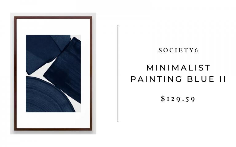 society6 minimalist painting indigo