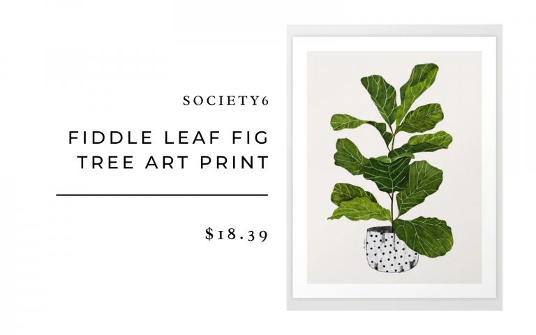 fiddle leaf tree art print