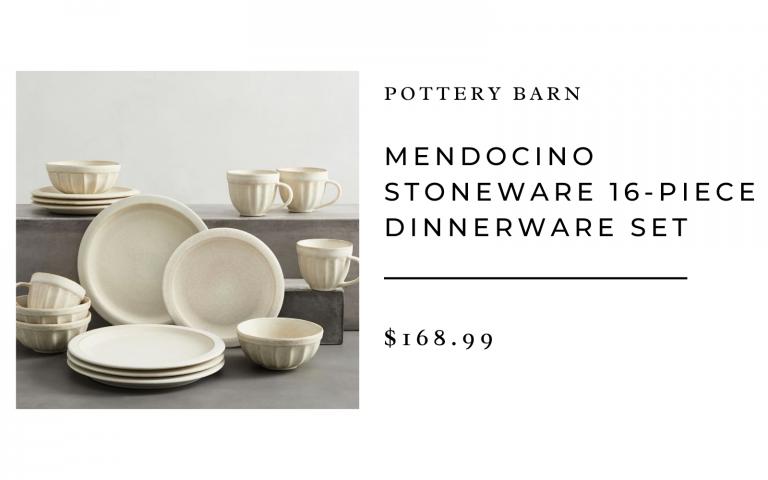pottery barn mendocino stoneware dishes