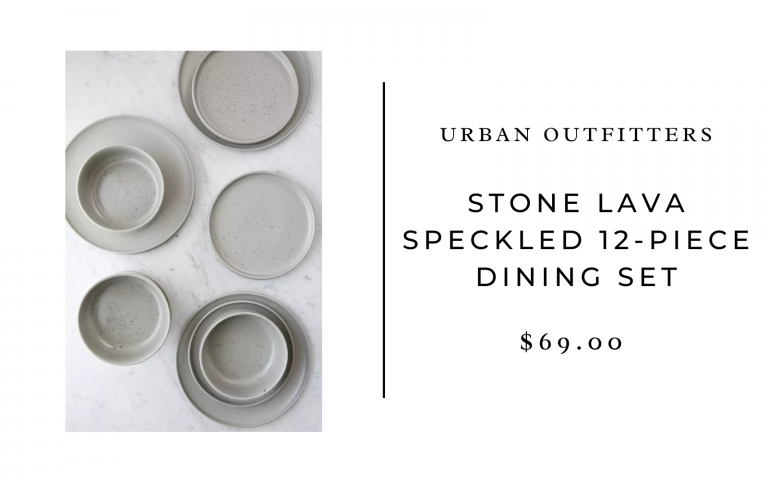 urban outfitters stone lava speckled dining set