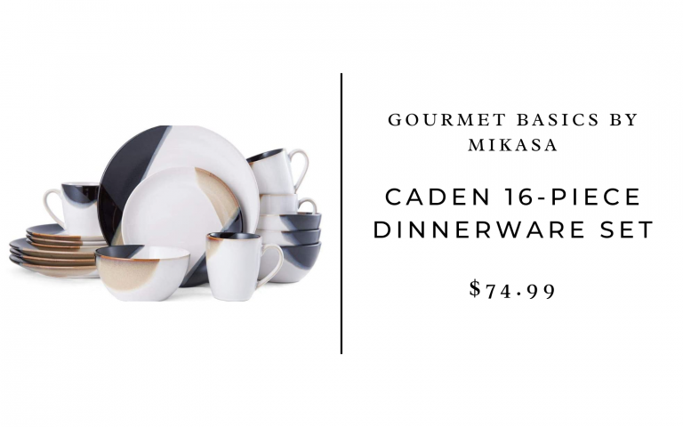 gourmet basics caden dinnerware set amazon