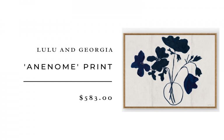 lulu and georgia anenome print