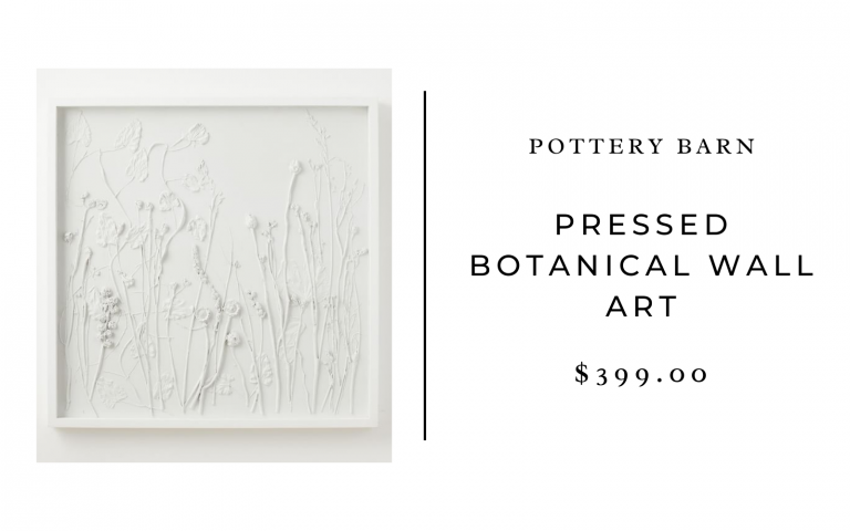 pressed botanical wall art