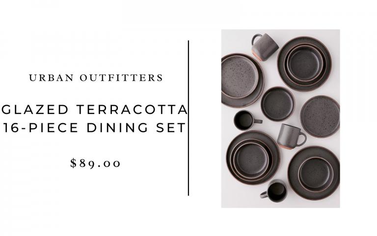 urban outfitters glazed terracotta dinnerware set