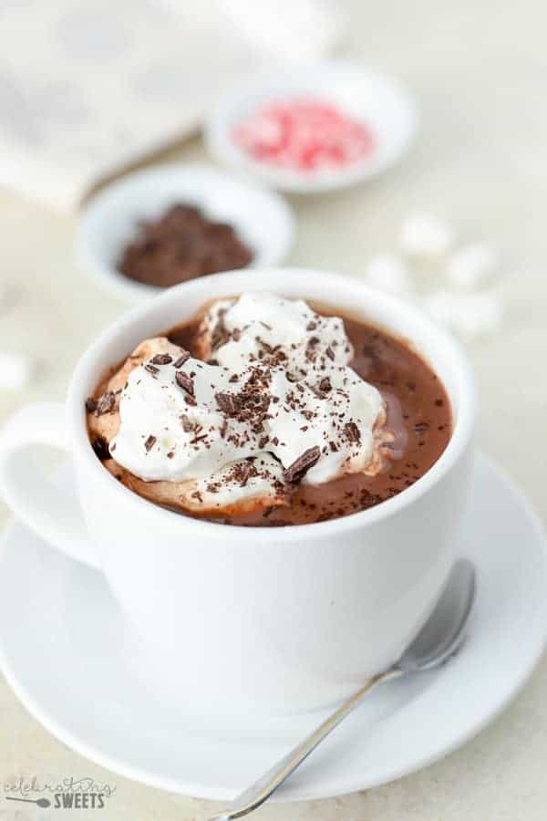 hot chocolate with milk