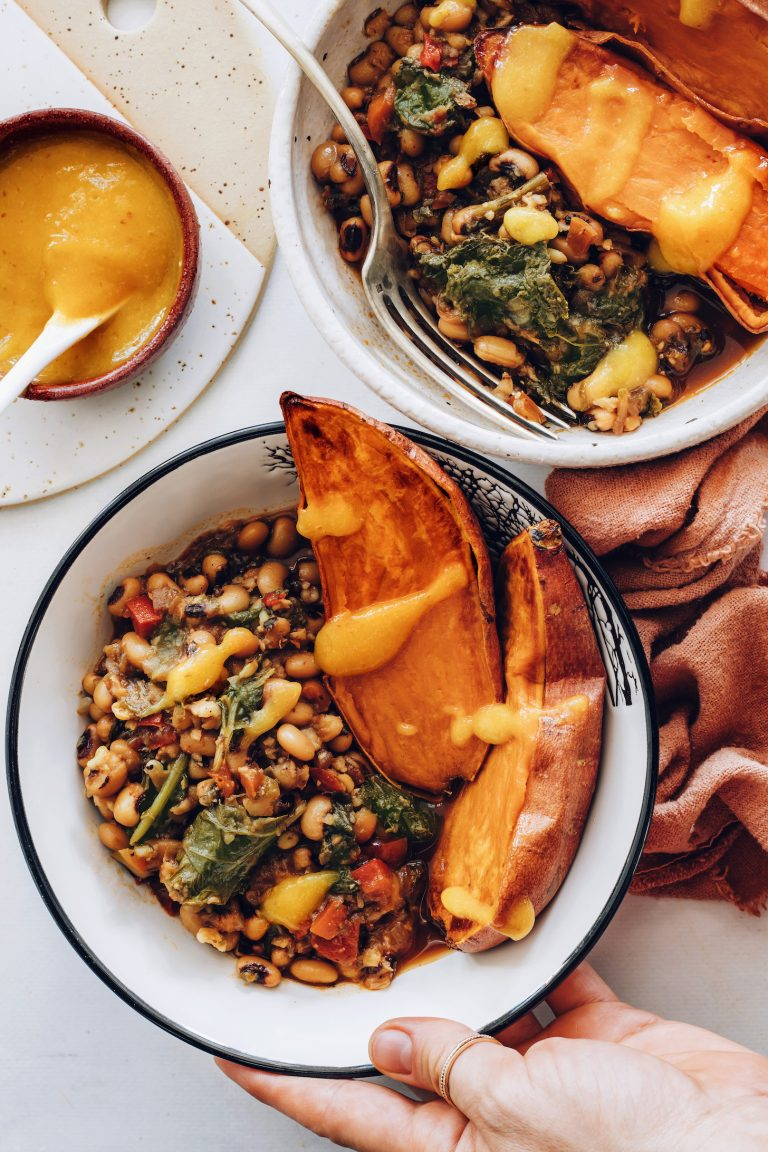 spicy black eyed pea bowl
