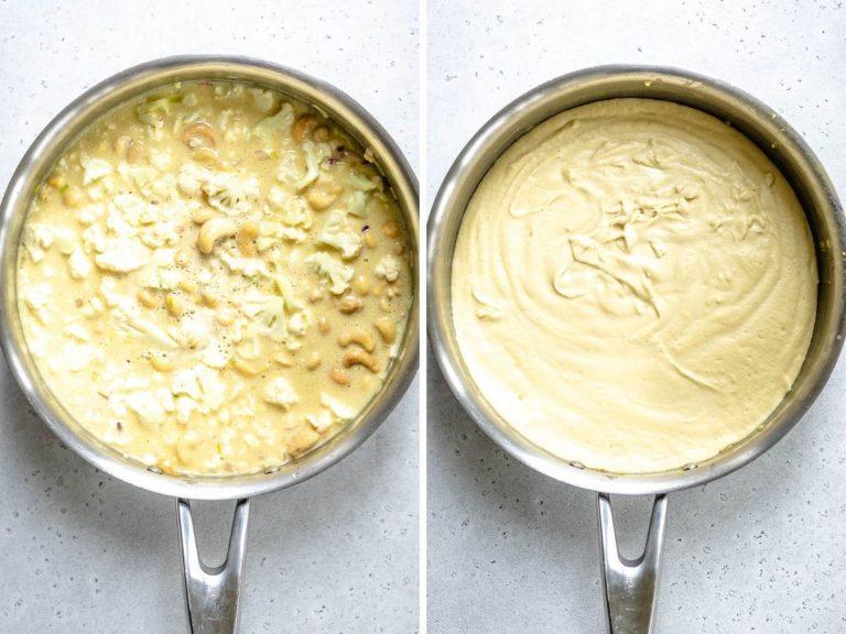 vegan cauliflower mac & cheese_two spoons